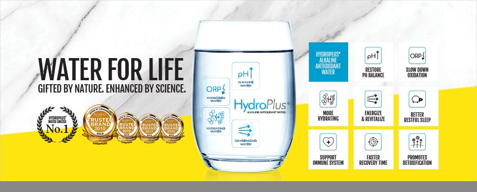 slide hydroplus glass of water